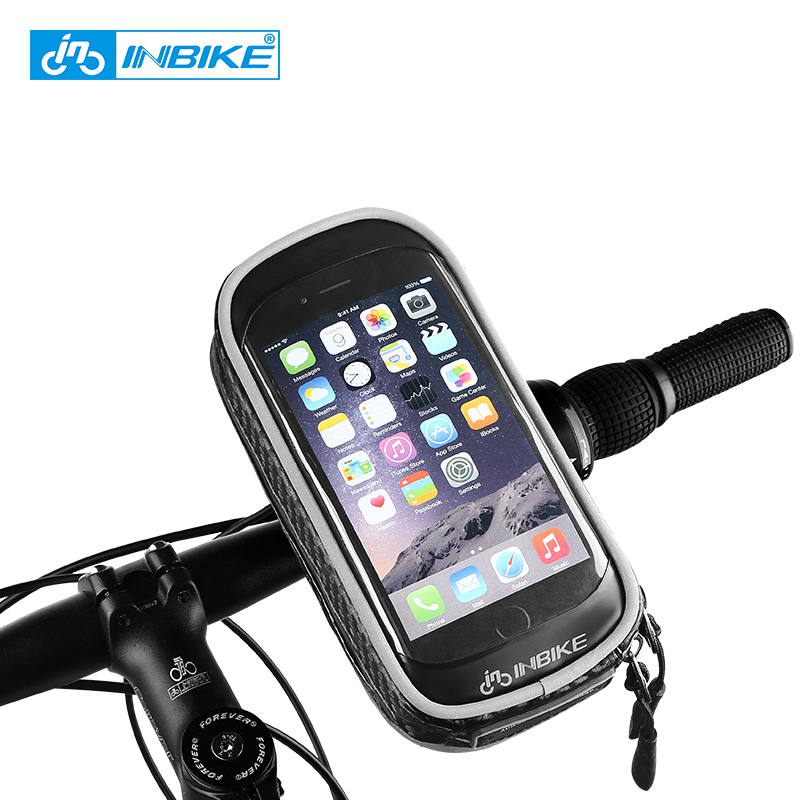 INBIKE 2017 Étanche À La Pluie Avant Zipper Vélo Sac VTT Montagne Cycle Écran Tactile Téléphone Sacs Étanche GPS Vélo Pouch Sacoches PX5