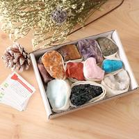 11pcs Minerals Rocks Science Geology Specimens Earth Minerals Collection Geology Learning Educational Toys for Children Kids|  -