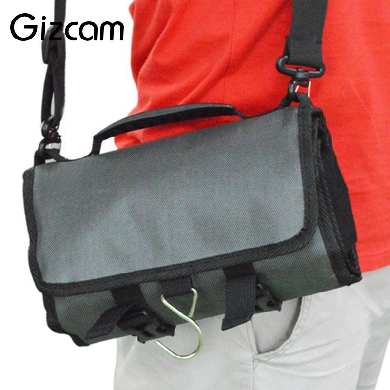 Gizcam Rolling Waterproof Storage Carrying Bag Handbag for GoPro for SJ for YI Sports Camera