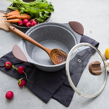 Aluminum Alloy thickened double bottom nonstick cooking pot porridge pot electromagnetic