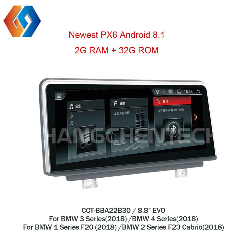 Android 8,1 navegación Multimedia para BMW 1, 2, 3, 4 Series F20 F23 2018 EVO SISTEMA DE calidad pantalla táctil GPS de Radio 30