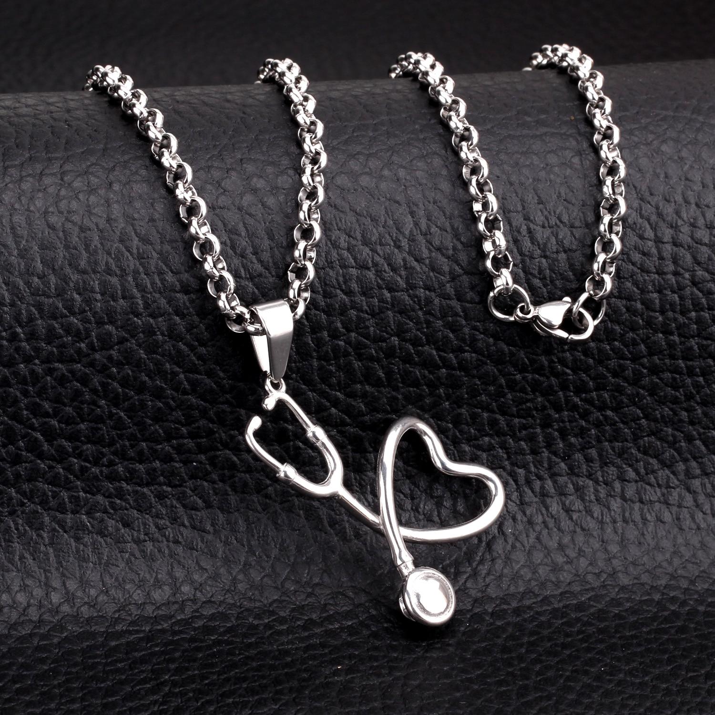 LUXUKISSKIDS Romantis Hati Ke Hati Echometer Wanita / Pria Stainless - Perhiasan fashion - Foto 6