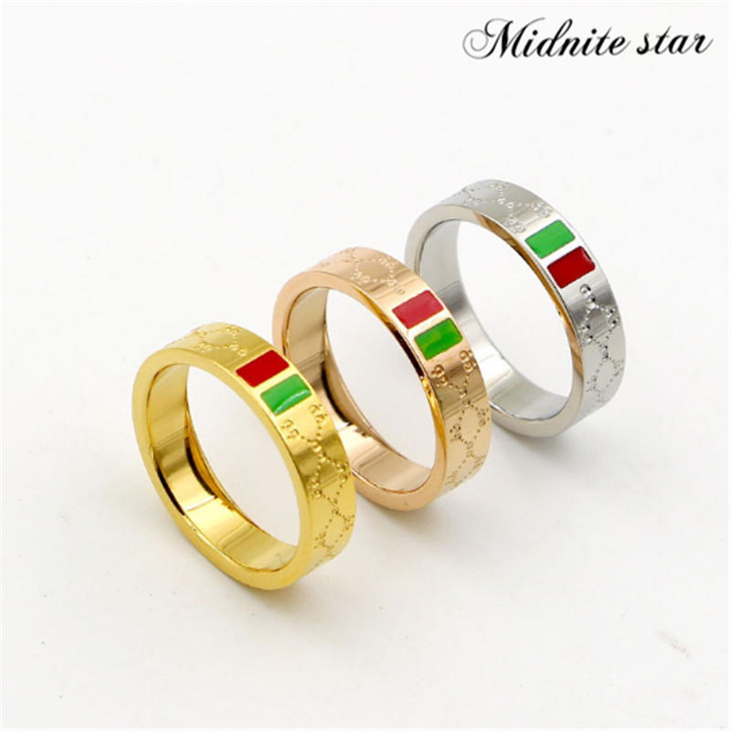 Women Ring Female Jewelry Rose-Gold-Plating Gift Stainless-Steel Charm Multi-Size Trendy