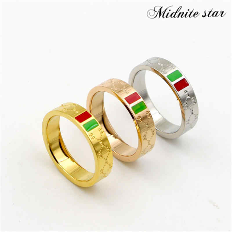 Multi-size Rose Gold Plating Women Ring Stainless Steel Charm Finger Rings Trendy Female Jewelry Gift 2019
