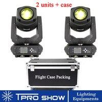 ДВА 200 W гобо светодиодный перемещение головы лучевые прожекторы с твердый контейнер диско DJ осветительный набор