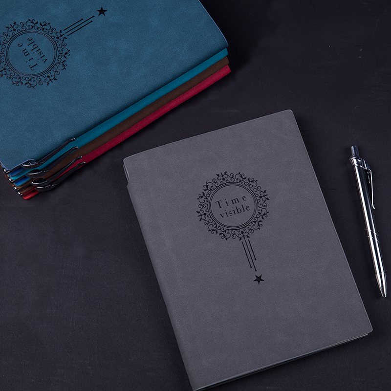 RuiZe Faux leather notebook A5 office note books diary agenda 2019 creative stationery vintage notebook thick paper soft cover