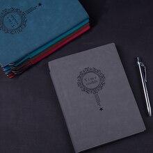 Ограниченное предложение RuiZe творческой офисный ноутбук A5 кожа толщиной дневник планировщик повестки дня блокнот с ручкой бизнес канцелярские подарок 120 листов бумаги