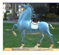 Китай Бронза Медь дома Книги по искусству украшения абстрактный конь Скульптура Статуя Скульптуры бронзовые украшения торговое предприят
