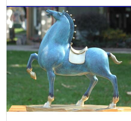 China Bronze Copper Home Art Decoration Abstract Horse Sculpture Statue Statuary decoration bronze factory outlets