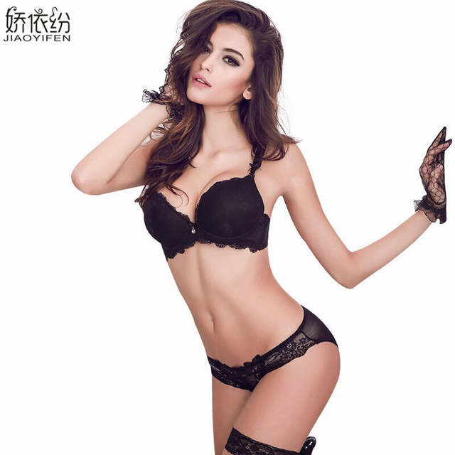 00c2ca039 placeholder Hot Sale Europe Women Underwear Sexy Lace Bra Set Gather  Together Embroidery Sexy Lingerie Brassiere Sets