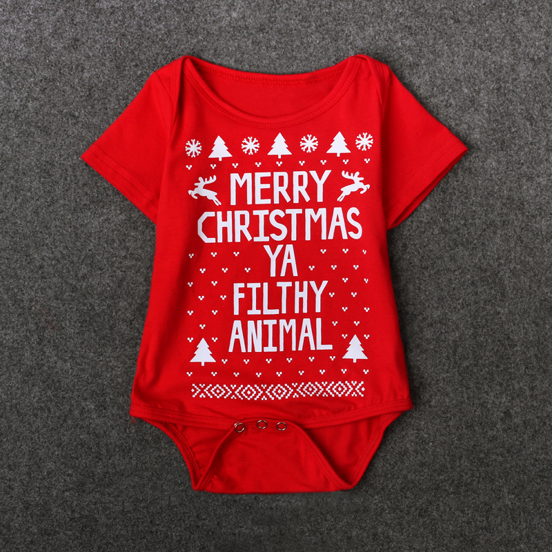 22f77ba53 2017 New Baby Christmas Costume Autumn Summer Infant Baby Happy Christmas  Clothing Rompers Jumpsuit Clothes Outwear-in Clothing Sets from Mother &  Kids on ...