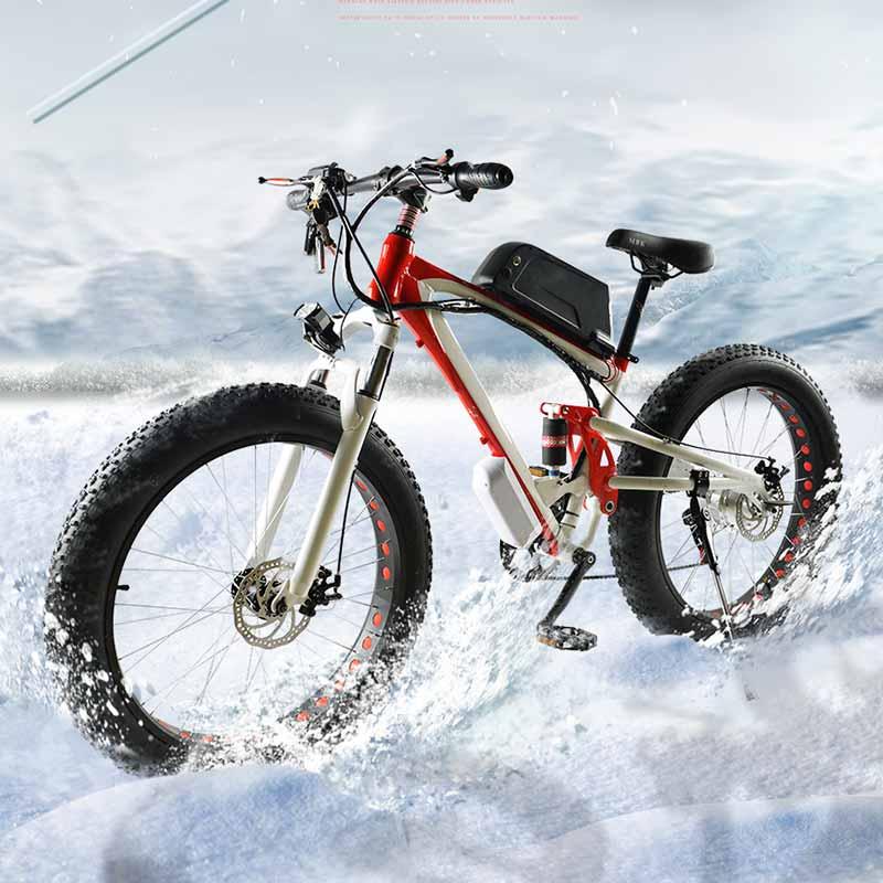 Высокое качество электрические велосипеды, новые протектора смазки, 48v350w, литиевые батареи, электрические велосипеды, широкие шины 26 * 4.0, снег, батарея 15ah