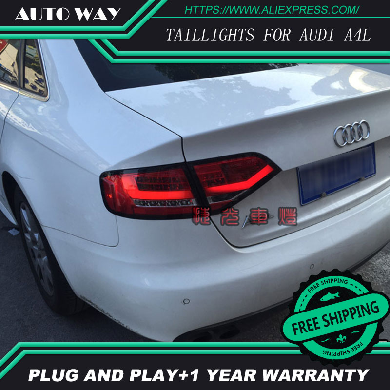 Car Styling tail lights for Audi A4 A4L 2008-2012 taillights LED Tail Lamp rear trunk lamp cover drl+signal+brake+reverse car styling tail lights for hyundai santa fe 2007 2013 taillights led tail lamp rear trunk lamp cover drl signal brake reverse