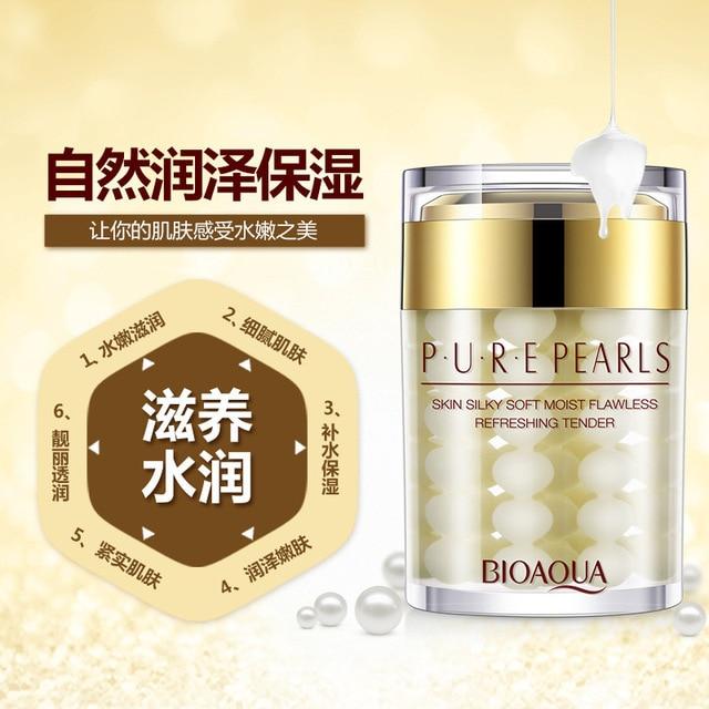 60ml BIOAQUA Pure Pearls Face Cream Skin Care Flawless Whitening Moisturizing Lifting Agless Anti Wrinkle Face Care Day Creams 2