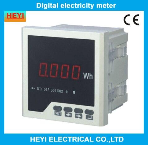 Compteur d'énergie actif numérique monophasé, compteur d'électricité, compteurs d'énergie, compteur d'énergie électrique, série LED HY-E