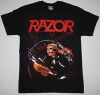 Afeitar mal invasores Thrash Speed metal Band sacrificio Cuervo nuevo negro Camiseta 100% algodón recto o-cuello de manga corta Camiseta