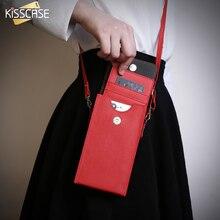 Kisscase Универсальный кожаный сумка чехол для iPhone 7 Plus 4S 5 5S 5C SE 6 6S плюс S8 карты Держатель hoesjes Телефон Чехол