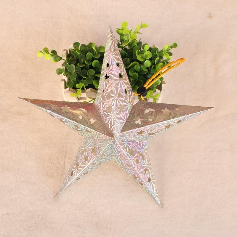 1PC 30cm-45cm-60cm glänsande stjärna Papper lampskärm lykta blomma - Semester och fester - Foto 5