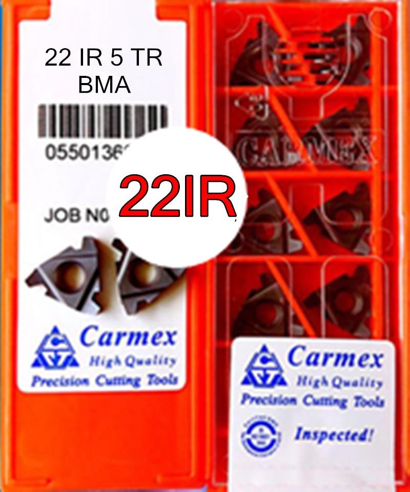 22IR 5 TR BMA 10 teile/satz Carmex CNC Interne gewinde Hartmetall einfügen Verarbeitung edelstahl und stahl Kostenloser versand-in Drehwerkzeug aus Werkzeug bei AliExpress - 11.11_Doppel-11Tag der Singles 1