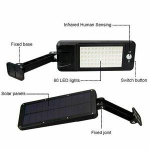 Image 3 - 60LED 1000LM Solar Dimmable Wall Light PIR Motion Sensor Garden Outdoor Lamp