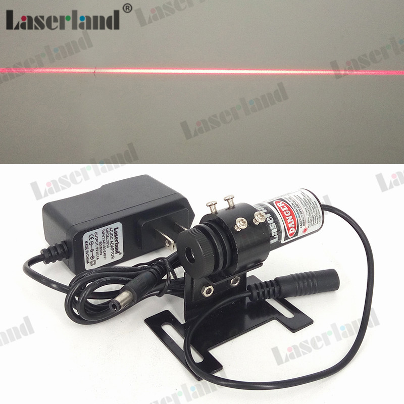 22*70mm Focusable 650nm 20mW 60mW 100mW Red Line Diode Laser Module Locator +adapter+mount clothes wood cutting 650nm 5mw focusable red line laser module laser generator diode