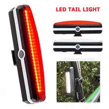 LED USB Luce Ricaricabile Della Bici Della Bicicletta Ciclismo Anteriore Posteriore di Coda Lampada Impermeabile