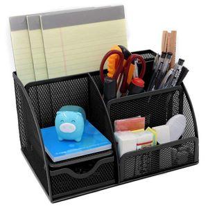 Image 2 - 1 adet ofis kırtasiye çok fonksiyonlu kırtasiye kalemlik ızgara saklama kutusu