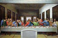 Célèbre Jésus-Christ Peinture À L'huile sur Toile Le Dernier Souper par Leonardo Da Vinci Peinture Peint À La Main Mur Art Photos