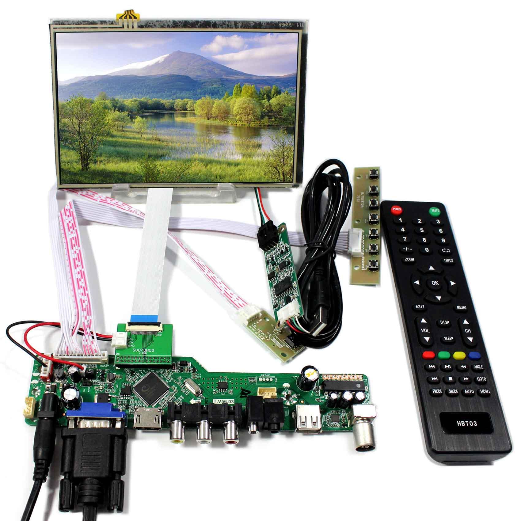 все цены на TV PC HDMI CVBS RF USB AUDIO Driver Board With 7inch 1280x800 HSD070PWW1-C00 Touch LCD Screen онлайн