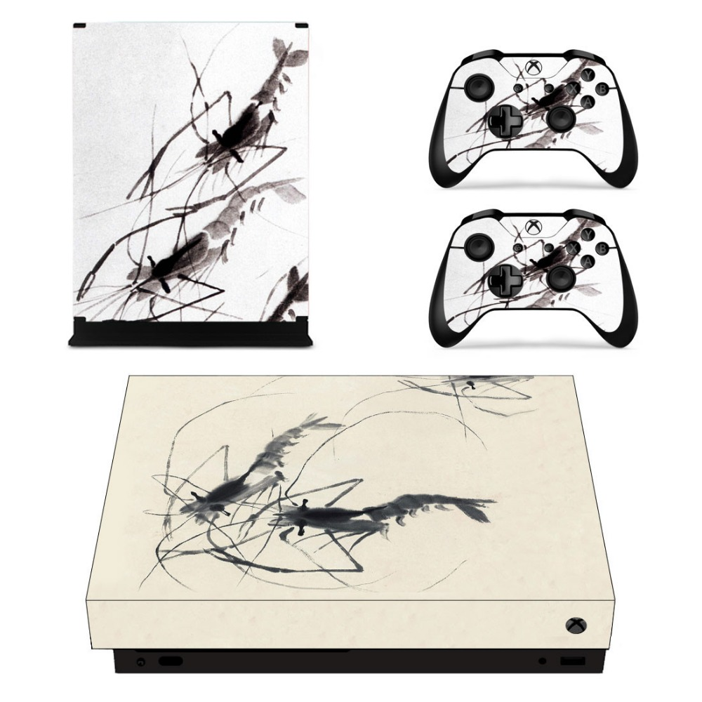 Full Set Faceplates Skin Stickers Of Chinese Painting For Xbox One