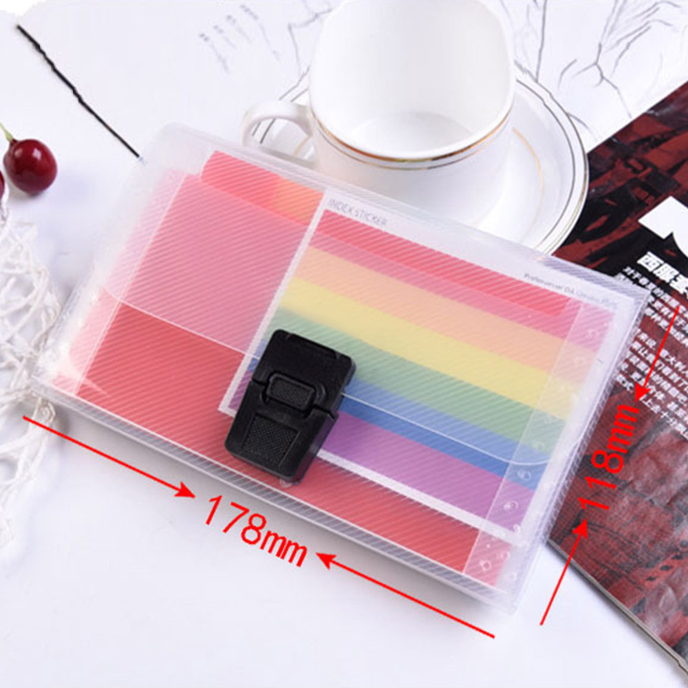 Large Capacity 13 Grids A6 Document File Holder Mini Bill Receipt File Bag Pouch Folder  High Quality Hot Sale