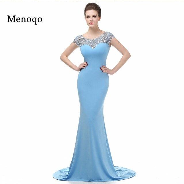 5a5c9459f Nuevo modelo Real Vestidos de Fiesta vestido largo Formal Cap manga vestido  De sirena Vestidos de
