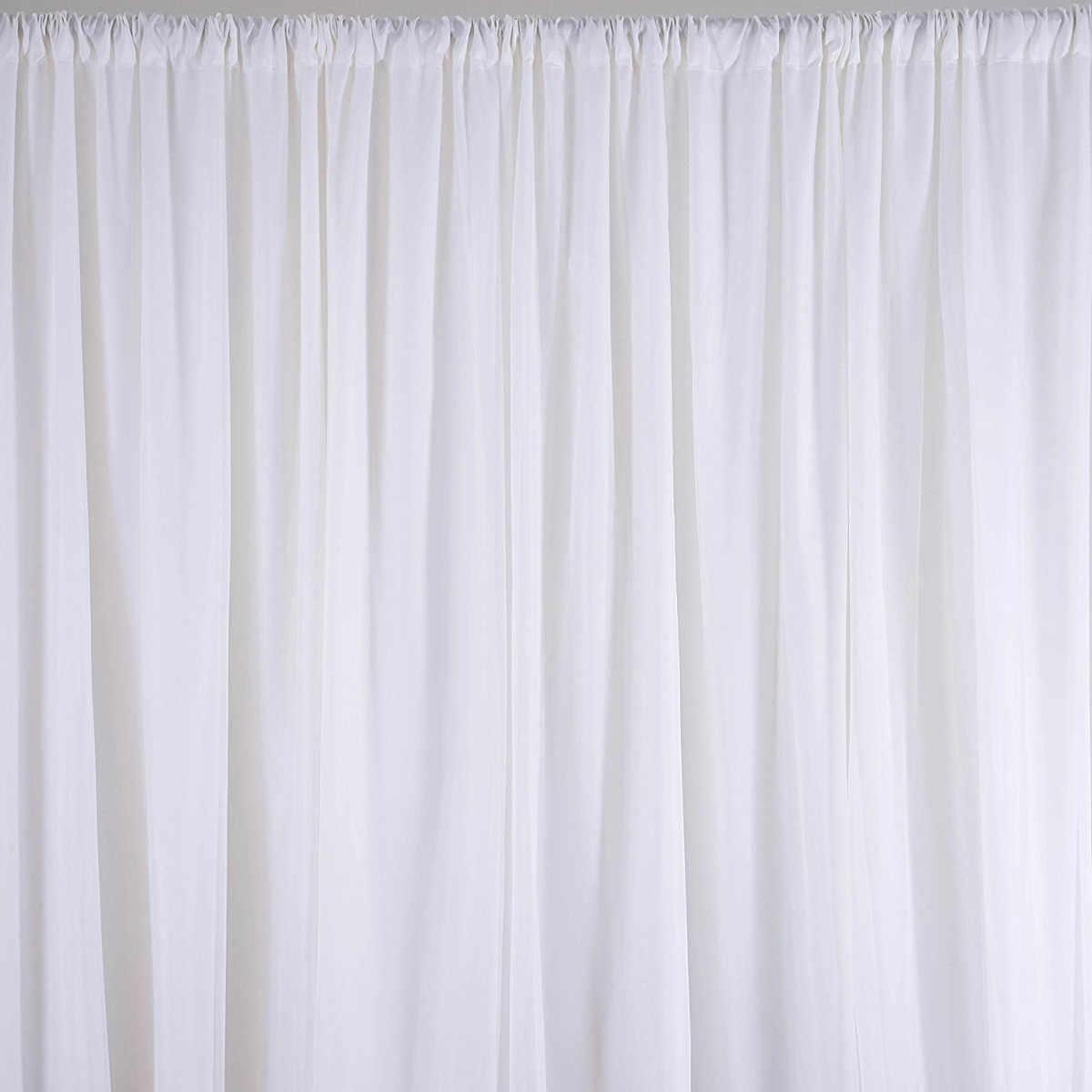 White Sheer Silk Cloth D Panels