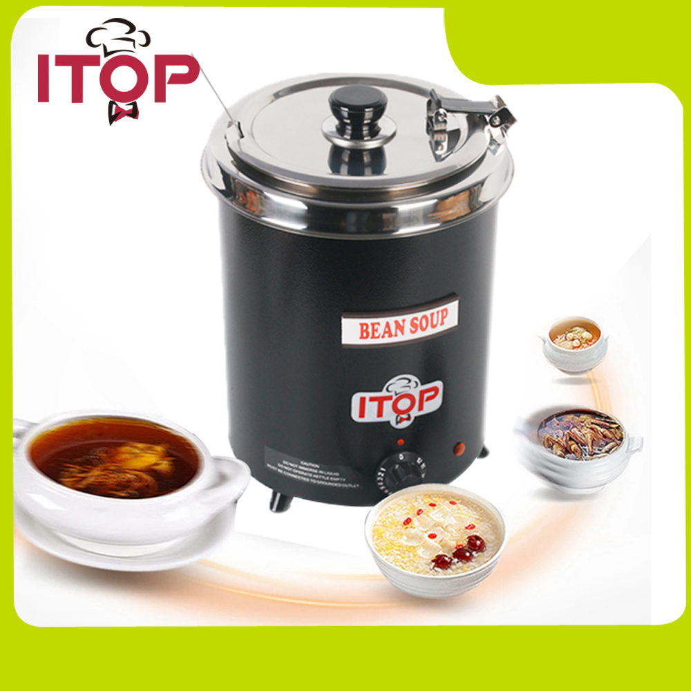 itop soup warmer soup kettle wet heat broth boiler 110v220v suitable for cateen - Soup Warmer