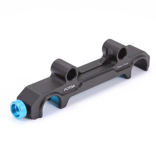 FOTGA DP500III 15mm to 19mm Rail Rod Convert Adapter Quick Release Mount Clamp for DSLR Quick Release Version Follow Focus Rig fotga dp500iii adjustable quick release baseplate for 15mm rod dslr camera rig