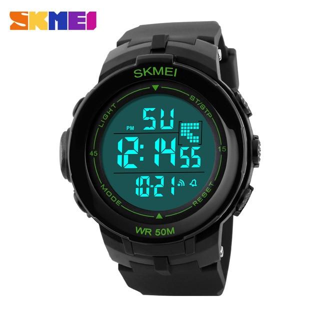 2016 New Luxury Brand Men Sports fashion Watches Digital LED Wristwatch Rubber Strap 50m Waterproof Erkek Kol Saati Clock  SKMEI