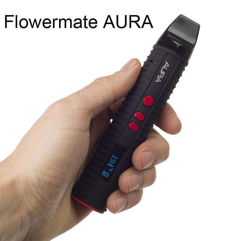 Flowermate AURA herbe sèche vaporisateur cire liquide 3 en 1 Cigarette électronique 2600 mAh Vaporizador de phebas E Cigarette Vape