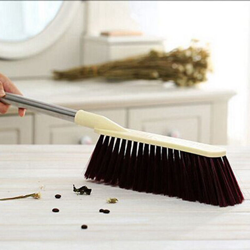 Stainless steel handle large dust cleaning brush Sweep bed Long-handled brush dusted off Plastic coat cleaning brush