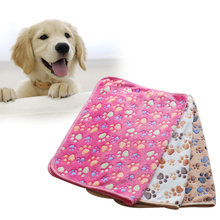 Cute Warm Pet Bed Mat Cover Small Medium Large Towel Paw Handcrafted Print Cat Dog Fleece Soft Blanket Puppy Winter Pet Supplies