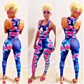 New Fashion Women  Summer Sexy Print  Jumpsuit Bandage Jumpsuits Bodysuit Club Party Rompers Overalls