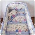Продвижение! 6 шт. детские кроватки детская кроватка постельных принадлежностей ребенка постельное белье bebe jogo де кама, ( Бамперы + лист + )