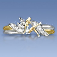 Hot New Elves Color Separation Ring For Women ith White Gold Filled Rings For Valentine's Day 2