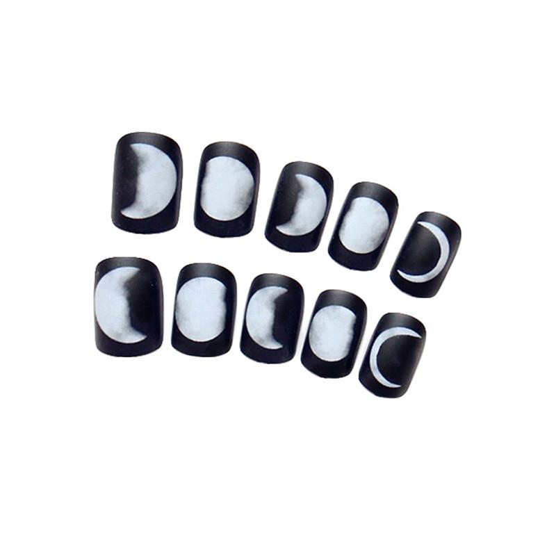 24 unids negro sensación mate gel polaco nail art consejos Luna ...