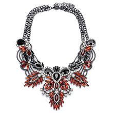 2018 ZA Big Necklace Women Maxi Necklaces & Pendants Collier Femme Boho Fashion Choker Collar Accessories Female Crystal Flower(China)