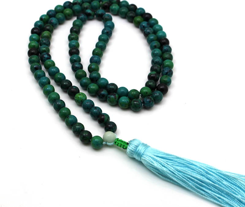 Natural 6mm, 8mm Stone Buddhist 108 Prayer Beads Mala Bracelet Necklace aaa 4mm natural olivine beaded bracelet tibetan buddhist prayer beads necklace gourd mala prayer bracelet for meditation