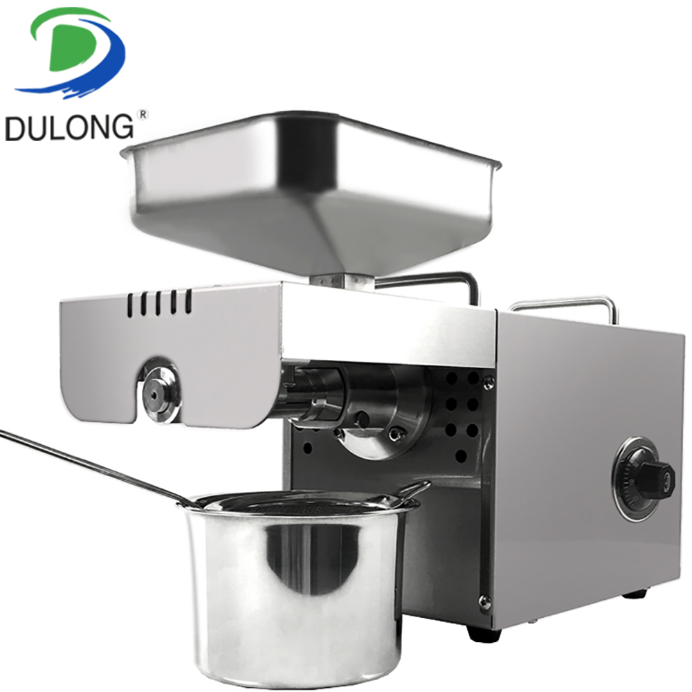 Hot selling Home cold press small oil screw press machine price Nut & Seed oil expeller press machine Vegetable oil extractor