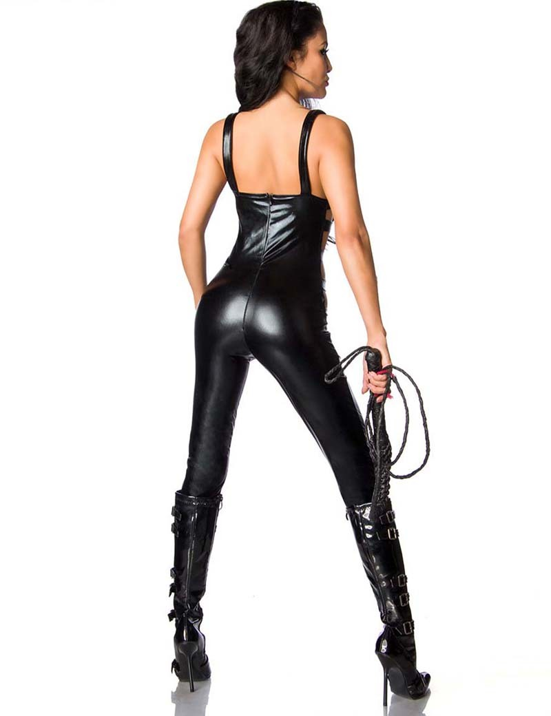 fb6b77985f0 Sexy Bandjes Jumpsuit Vrouwen Catsuit Side Cut Out Jumpsuit Crotchless  Bodysuit Wetlook Party Cosplay Kostuum Maat M L XL in Sexy Bandjes Jumpsuit  Vrouwen ...