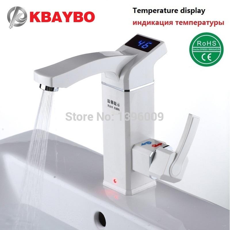 3500 W calentador de agua instantáneo eléctrico grifo instantáneo de agua caliente eléctrica grifo sin tanque de calefacción baño grifo de la cocina