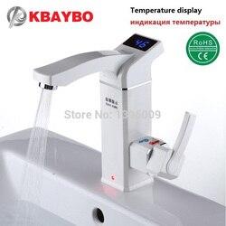 Kbaybo aquecedor de água instantâneo elétrico torneira do chuveiro instantâneo elétrico tankless aquecimento torneira da cozinha do banheiro