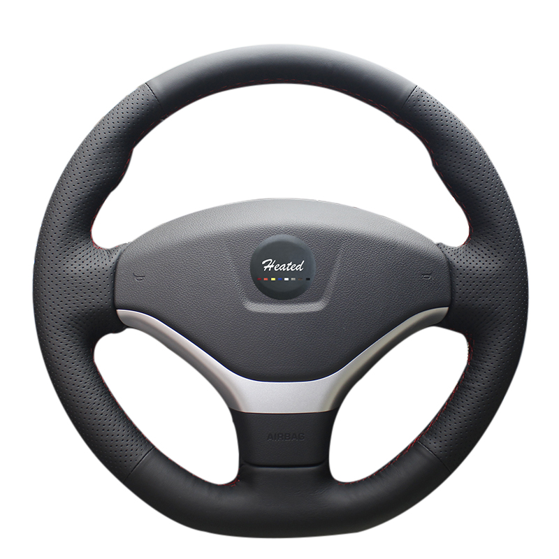heated microfiber leather car steering wheel cover for. Black Bedroom Furniture Sets. Home Design Ideas